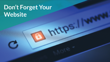 Don't Forget Your Website